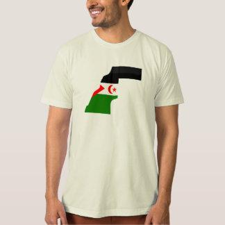 Western Sahara flag map T-shirts