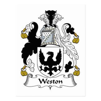 Weston Family Crest Postcard