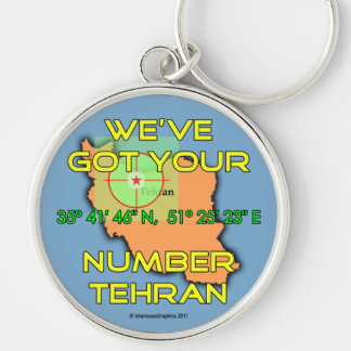 We've Got Your Number Tehran Silver-Colored Round Key Ring