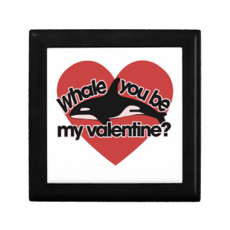 Whale you be my Valentine Small Square Gift Box