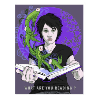 What Are You Reading Postcard