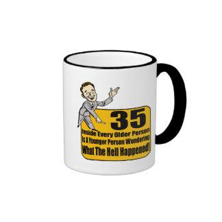 What Happened 35th Birthday Gifts Ringer Mug