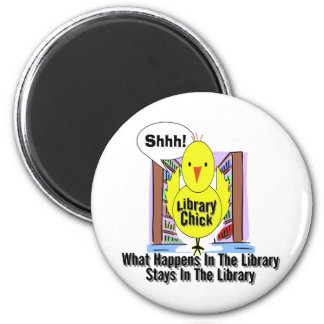 What Happens In The Library... 6 Cm Round Magnet