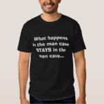 What happens in the man cave STAYS in the man c... Tee Shirts