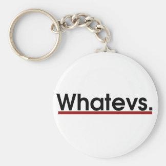 Whatev Basic Round Button Key Ring