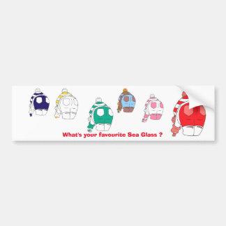 What's your favourite sea glass? bumper sticker