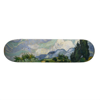 Wheatfield with Cypresses 18.1 Cm Old School Skateboard Deck