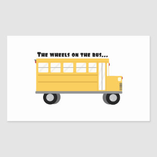 Wheels On Bus Rectangular Sticker