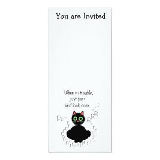 When in Trouble 10 Cm X 24 Cm Invitation Card