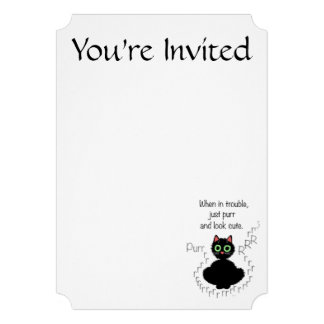 When in Trouble 13 Cm X 18 Cm Invitation Card