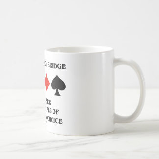 When Playing Bridge Principle Of Restricted Choice Basic White Mug