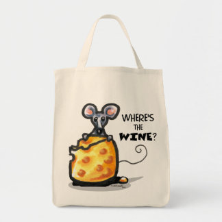 Wheres The Wine Grocery Tote Bag