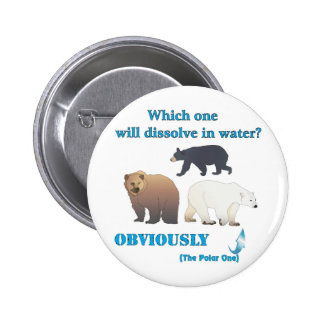 Which one will dissolve in water Polar Chemistry 6 Cm Round Badge