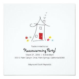 Whimsical Housewarming Party 13 Cm X 13 Cm Square Invitation Card