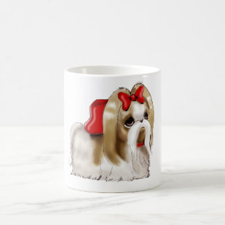 whimsical SHIH TZU DOG Basic White Mug