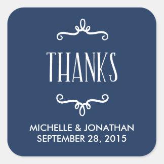 Whimsical Wedding Favor Square Sticker