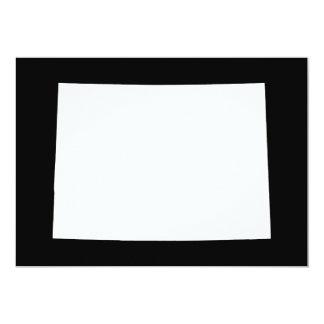 White and Black Colorado 13 Cm X 18 Cm Invitation Card