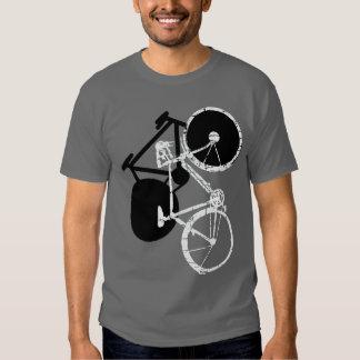 white bike/black bike t-shirts