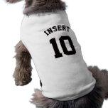 White & Black Pets | Sports Jersey Design Sleeveless Dog Shirt