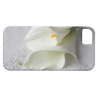 white calla lilies on linen iphone4 ID case