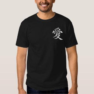 White Chinese Love Symbol T Shirt