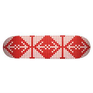 White Christmas Abstract Jumper Knit Pattern Custom Skate Board