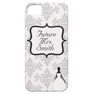 White Damask Future Mrs. iPhone 5 Case