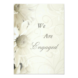 White Flowers Daughter Engagement Announcements