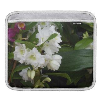 White Flowers iPad Sleeve