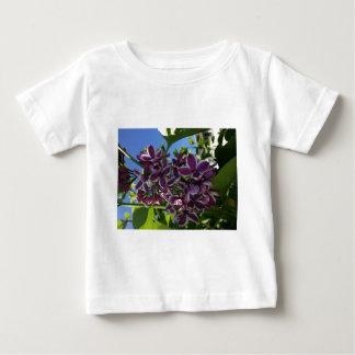 White fringed purple lilac tshirt