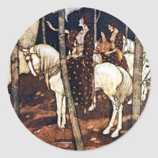 White Horses Small Sticker