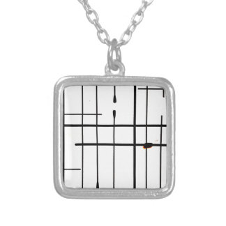 White Limits By Jandi Square Pendant Necklace