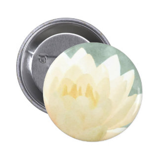 White Lotus 6 Cm Round Badge