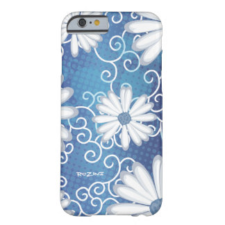 White Navy Blue Floral Tribal Daisy Tattoo Pattern Barely There iPhone 6 Case