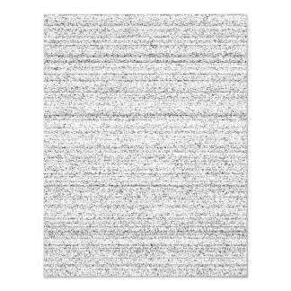 White Noise. Black and White Snowy Grain. 11 Cm X 14 Cm Invitation Card