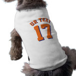 White & Orange Pets | Sports Jersey Design Sleeveless Dog Shirt