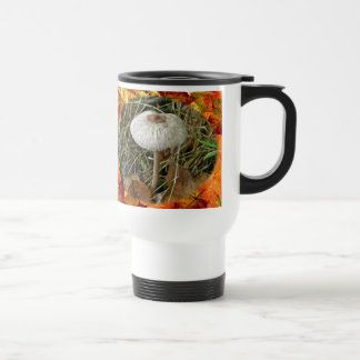 White Parasol Mushroom Coordinating Items Stainless Steel Travel Mug