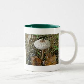 White Parasol Mushroom Coordinating Items Two-Tone Mug