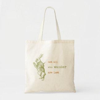 White Rabbit, Alice in Wonderland Budget Tote Bag