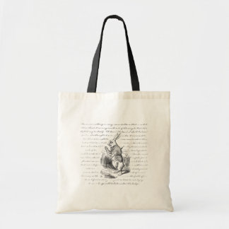 White Rabbit - Oh Dear! Oh Dear! I shall be Late! Budget Tote Bag