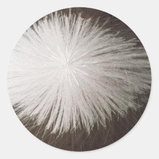 White Spark Round Sticker