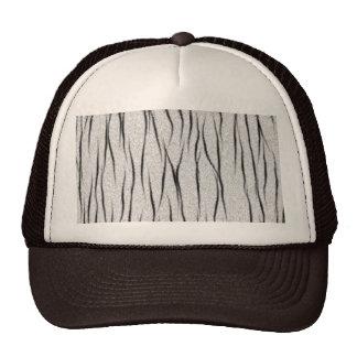 White tiger texture cap