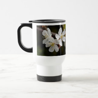 White Trio of Blossoms Stainless Steel Travel Mug