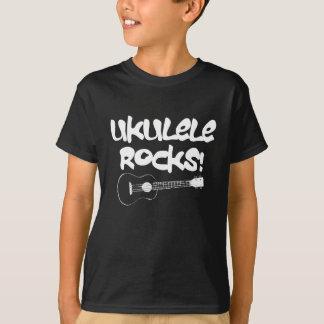 White Ukulele Rocks T-shirts