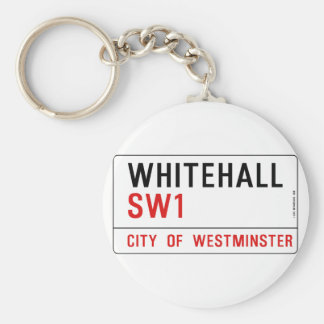 Whitehall London Street Sign Basic Round Button Key Ring