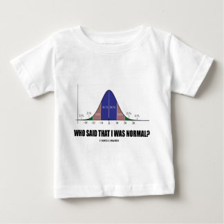 Who Said That I Was Normal? (Bell Curve Humor) Tees