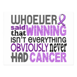 Whoever Said General Cancer Postcard