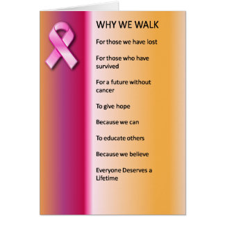 Why We Walk for a Cure Greeting Card