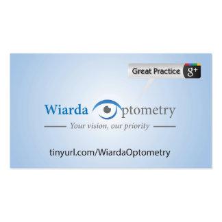 Wiarda Optometry Pack Of Standard Business Cards