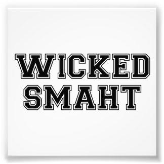 Wicked Smart (Smaht) College Boston Photographic Print